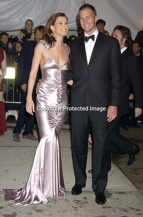 Bridget Moynihan and Tom Brady..at The Metropolitan Museum of Art's Costume Institute Gala ..celebrating Chanel on May 2, 2005 in New York City.    Photo by Robin Platzer, Twin Images