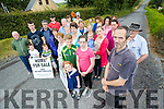 Aidan Linnane (Foreground) with locals in the Finuge area protesting at the proposed windfarm in the area.