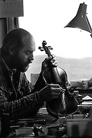 Carefully crafted violins in Dingle.<br /> Picture: Don MacMonagle - macmonagle archive<br /> e: info@macmonagle.com