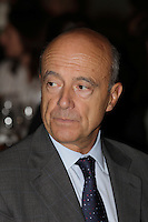 Alain Juppe, Mayor of  Bordeaux, FRANCE and former French Prime-Minister speak in Montreal, September 5, 2012 in front of the French Chamber of Commerce in Canada.<br /><br />Alain Juppe, Maire de Bordeaux et ancien Premier Miinistre de la Republique Francaise parle devant la Chambre de Commerce Francaise au Canada, le 5 septembre 2012, a Montreal