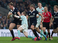 Twickenham, United Kingdom. Oxford's Basi STRANG, running forward, during the  Men's Varsity Rugby, [Oxford vs Cambridge],Twickenham. UK, at the RFU Stadium, Twickenham, England, <br /> <br /> Thursday  08/12/2016<br /> <br /> [Mandatory Credit; Peter Spurrier/Intersport-images]