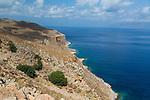 The scenic drive to  Balos Beach on the Gramvousa Peninsula, Crete, Greece