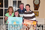 ART: Sinead Joy and Joe Mannix, two of the participants in the Listowel Credit Union Poster competition in The Arms Hotel on Friday night, pictured here with Lulu O'Connell and Michael McElligott (all Listowel)..   Copyright Kerry's Eye 2008