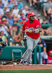11 March 2016: Philadelphia Phillies first baseman Ryan Howard in action during a Spring Training pre-season game against the Atlanta Braves at Champion Stadium in the ESPN Wide World of Sports Complex in Kissimmee, Florida. The Phillies defeated the Braves 9-2 in Grapefruit League play. Mandatory Credit: Ed Wolfstein Photo *** RAW (NEF) Image File Available ***