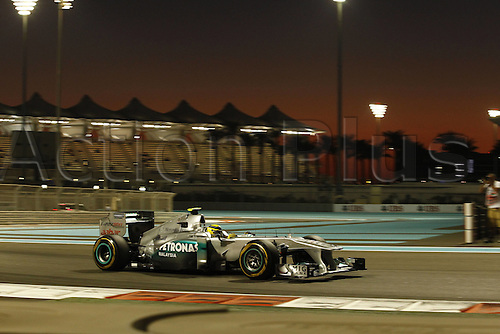 11.11.2011 Abu Dhabi, United Arab Emirates.  Grand Prix of Abu Dhabi 08 Nico Rosberg ger Mercedes GP Petronas, during the practice session at the FIA Abu Dhabi Grand Prix in the UAE.