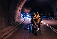 tunnel vision for Robert Gesink (NED/LottoNL-Jumbo)<br /> <br /> 112th Il Lombardia 2018 (ITA)<br /> from Bergamo to Como: 241km