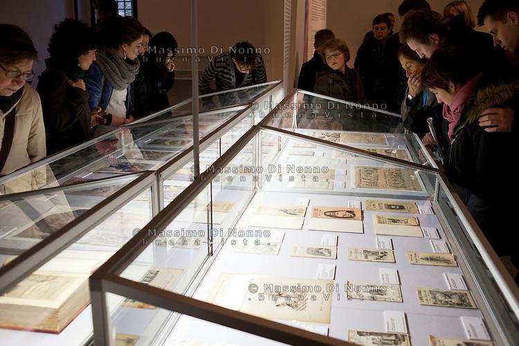 Milano: visitatori alla mostra dedicata ala casa editrice Salani durante la prima edizione di Book City Milano.