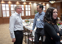 Luncheon with Chris Brickman '86 and faculty from the Economics Department.<br /> Tues., Sept. 25, 2018 in the Cushman Boardroom of Hinchliffe Hall.<br /> (Photo by Marc Campos, Occidental College Photographer)