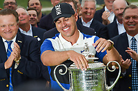 Brooks Koepka (USA) is elated after winning the  2019 PGA Championship, Bethpage Black Golf Course, New York, New York,  USA. 5/19/2019.<br /> Picture: Golffile | Ken Murray<br /> <br /> <br /> All photo usage must carry mandatory copyright credit (© Golffile | Ken Murray)