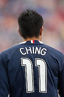 Brian Ching sports the new USMNT uniform at Pizza Hut Park in Frisco, Texas, Sunday, Feb. 19, 2005.  USA won 4-0.