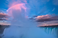 Fog at dawn over Niagara Falls<br />