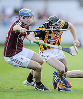 28th June 2014; Conor Fogarty of Kilkenny with Galway's Conor Cooney. GAA Hurling Senior Championship Semi-Final replay Kilkenny v Galway, O'Connor Park, Tullamore. Picture credit: Tommy Grealy/actionshots.ie.