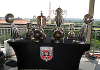 WASHINGTON, DC-JULY 10,2012:  DC United trophies on display during a D.C. United ownership press conference at the POV Lounge in the W Hotel, Washington, DC.