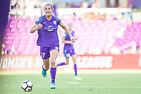 Orlando, FL - Sunday May 14, 2017: Dani Weatherholt during a regular season National Women's Soccer League (NWSL) match between the Orlando Pride and the North Carolina Courage at Orlando City Stadium.