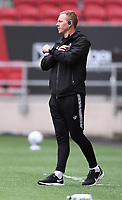 8th July 2020; Ashton Gate Stadium, Bristol, England; English Football League Championship Football, Bristol City versus Hull City; Dean Holden Caretaker Manager of Bristol City encourages his team