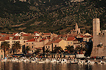 .Vis Island. Komiza harbour..Cruise in Croatia. Island of Dalmatia