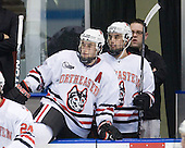 Jim Driscoll (NU - 4), ?, Matt Nareski (NU - Equipment Manager) - The Northeastern University Huskies defeated the Boston College Eagles 3-2 on Friday, February 19, 2010, at Matthews Arena in Boston, Massachusetts.