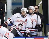 Jim Driscoll (NU - 4), ?, Matt Nareski (NU - Equipment Manager) - The Northeastern University Huskies defeated the Boston College Eagles 3-2 on Friday, February 19, 2010, at Matthews Arena in Boston, Massachusetts.