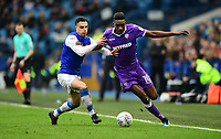 Bolton Wanderers' Sammy Ameobi vies for possession with Sheffield Wednesday's Joey Pelupessy<br /> <br /> Photographer Chris Vaughan/CameraSport<br /> <br /> The EFL Sky Bet Championship - Sheffield Wednesday v Bolton Wanderers - Saturday 10th March 2018 - Hillsborough - Sheffield<br /> <br /> World Copyright &copy; 2018 CameraSport. All rights reserved. 43 Linden Ave. Countesthorpe. Leicester. England. LE8 5PG - Tel: +44 (0) 116 277 4147 - admin@camerasport.com - www.camerasport.com