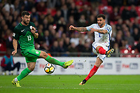 England's Kyle Walker has a shot at goal <br /> <br /> Photographer Craig Mercer/CameraSport<br /> <br /> FIFA World Cup Qualifying - European Region - Group F - England v Solvenia - Thursday 5th October 2017 - Wembley Stadium - London<br /> <br /> World Copyright &copy; 2017 CameraSport. All rights reserved. 43 Linden Ave. Countesthorpe. Leicester. England. LE8 5PG - Tel: +44 (0) 116 277 4147 - admin@camerasport.com - www.camerasport.com