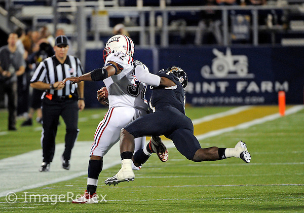 Florida International University football player defensive back Jonathan Cyprien (7) plays against the Florida Atlantic University on November 12, 2011 at Miami, Florida. FIU won the game 41-7. .