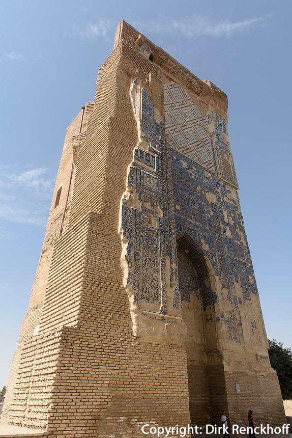 Ruine des Oq Saroy-Palast, Shar e Sabs, Usbekistan, Asien, UNESCO-Weltkulturerbe<br /> ruin of Oq Saroy Palace, Shar e Sabs,  Uzbekistan, Asia, UNESCO heritage site