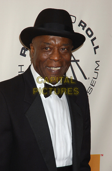 BUDDY GUY.2005 Rock and Roll Hall of Fame Induction Ceremony held at the Waldorf Astoria, New York, New York.March 14th, 2005.Photo Credit: Laura Farr/AdMedia.headshot portrait inductee bow tie hat .www.capitalpictures.com.sales@capitalpictures.com.© Capital Pictures.