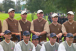 USA Team Photo, players and caddies, for the 2006 Ryder Cup at The K Club featuring Stewart Cink, Captain Tom Lehman, Phil Mickelson, David Toms and Chris DiMarco..Photo: Eoin Clarke/Newsfile.