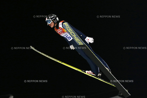 Yuki Ito (JPN), <br /> FEBRUARY 11, 2014 - Ski Jumping : <br /> Women's Individual Normal Hill <br /> at &quot;RUSSKI GORKI&quot; Jumping Center <br /> during the Sochi 2014 Olympic Winter Games in Sochi, Russia. <br /> (Photo by Koji Aoki/AFLO SPORT)