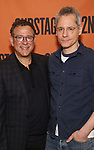 Michael Greif and Bruce Norris attends the cast photo call for the Second Stage production of  'A Parallelogram' at the Second Stage rehearsal studios on June 29, 2017 in New York City.