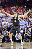 Washington, DC - MAR 11, 2018: Davidson Wildcats forward Peyton Aldridge (23) gets back on defense during the Atlantic 10 men's basketball championship between Davidson and Rhode Island at the Capital One Arena in Washington, DC. (Photo by Phil Peters/Media Images International)