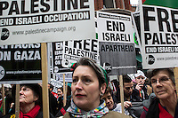 Gaza protest vigil in London