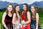 Isabel Barton, Nicola English, Sinead Coffey and Cora Coffey at the Beaufort Youth club ball in Beaufort Golf club on Wednesday evening