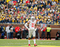 Ohio State Buckeyes safety Vonn Bell (11) against Michigan Wolverines at Michigan Stadium in Arbor, Michigan on November 28, 2015.  (Dispatch photo by Kyle Robertson)