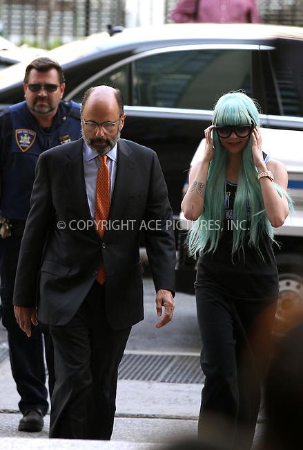 WWW.ACEPIXS.COM<br /> <br /> July 9 2013, New York City<br /> <br /> Actress Amanda Bynes arrives at the Manhattan Criminal Court on July 9 2013 in New York City<br /> <br /> By Line: Zelig Shaul/ACE Pictures<br /> <br /> <br /> ACE Pictures, Inc.<br /> tel: 646 769 0430<br /> Email: info@acepixs.com<br /> www.acepixs.com