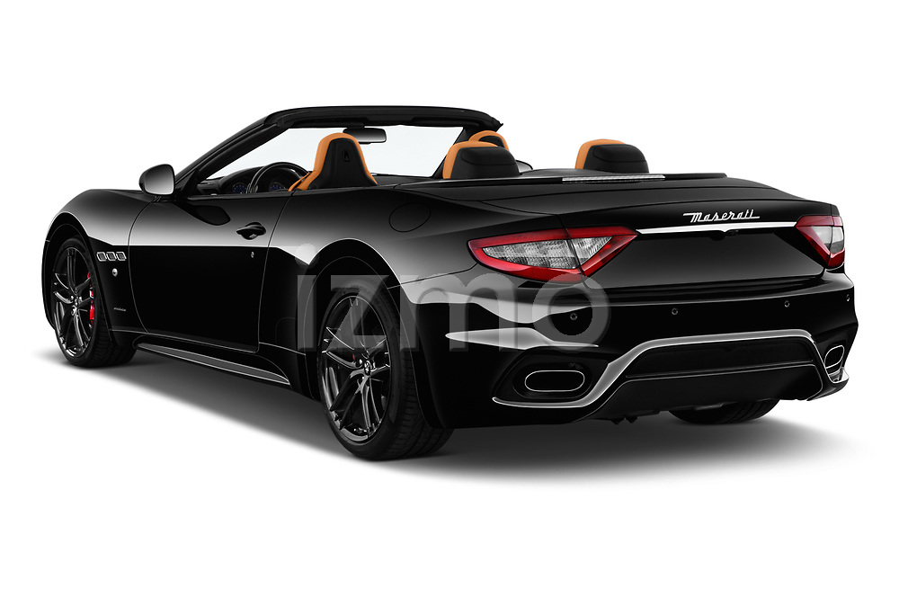 Car pictures of rear three quarter view of 2019 Maserati Gran-Cabrio Sport 2 Door Convertible Angular Rear