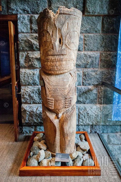 A carved wooden image from the Marquesas Islands, Bishop Museum, Honolulu, O'ahu.