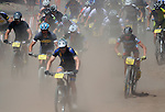June 7, 2014 - Vail, Colorado, U.S. - The start of the Men's Mountain Bike competition during the GoPro Mountain Games, Vail, Colorado.   Adventure athletes from around the world converge on Vail, Colorado, June 5-8, for America's largest celebration of adventure sports, music and the mountain lifestyle.