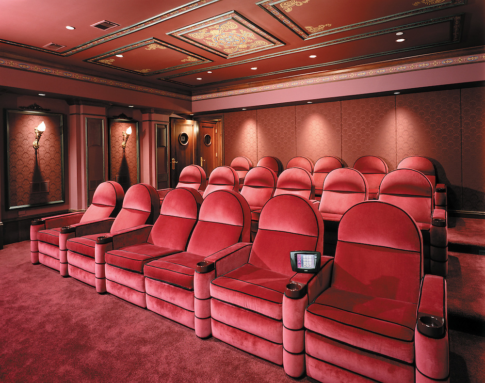 Velved Tiered Theater With LED Acoustic Treatment