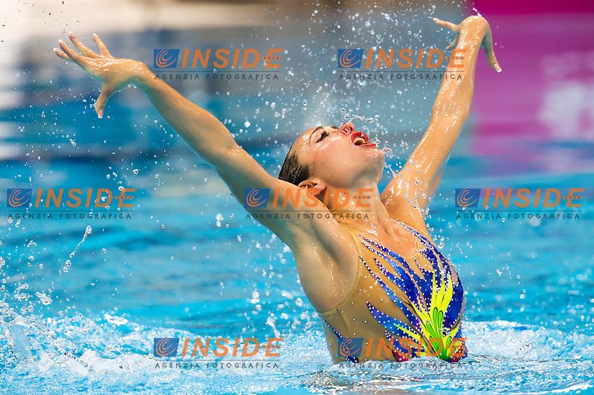 VOLOSHYNA Anna UKR silver medal<br /> London, Queen Elizabeth II Olympic Park Pool <br /> LEN 2016 European Aquatics Elite Championships <br /> Synchro<br /> Solo free final <br /> Day 02 10-05-2016<br /> Photo Giorgio Perottino/Deepbluemedia/Insidefoto