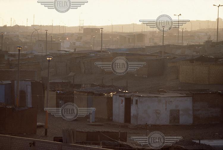 A view of Villa El Salvador shanty town in Lima.