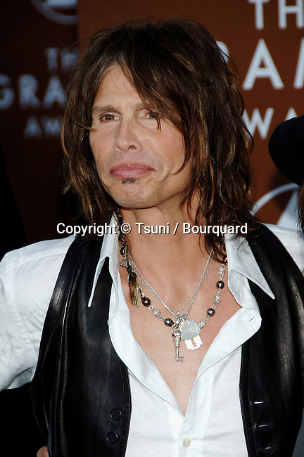 Steven Tyler arriving at the 48th Grammy Awards at the  Staples Center In Los Angeles, Wednesday February 8, 2006