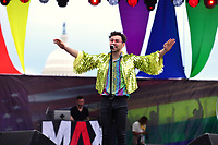 Washington, DC - June 10, 2018:  Max performs at the 2018 Capitol Pride concert in Washington, D.C. June 10, 2018.  (Photo by Don Baxter/Media Images International)