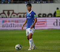 Seungho Paik (SV Darmstadt 98) - 04.10.2019: SV Darmstadt 98 vs. Karlsruher SC, Stadion am Boellenfalltor, 2. Bundesliga<br /> <br /> DISCLAIMER: <br /> DFL regulations prohibit any use of photographs as image sequences and/or quasi-video.