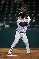 Jupiter Hammerheads first baseman John Silviano (22) at bat during a game against the Daytona Tortugas on April 13, 2018 at Jackie Robinson Ballpark in Daytona Beach, Florida.  Daytona defeated Jupiter 9-3.  (Mike Janes/Four Seam Images)