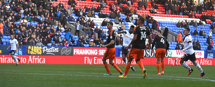 Bolton Wanderers' Sammy Ameobi scores his sides 2nd goal<br /> <br /> Photographer Dave Howarth/CameraSport<br /> <br /> The Emirates FA Cup Second Round - Bolton Wanderers v Sheffield United - Sunday 4th December 2016 - Macron Stadium - Bolton<br />  <br /> World Copyright &copy; 2016 CameraSport. All rights reserved. 43 Linden Ave. Countesthorpe. Leicester. England. LE8 5PG - Tel: +44 (0) 116 277 4147 - admin@camerasport.com - www.camerasport.com