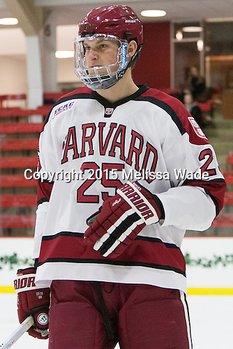 Wiley Sherman (Harvard - 25) - The Harvard University Crimson defeated the Brown University Bears 4-3 to sweep their first round match up in the ECAC playoffs on Saturday, March 7, 2015, at Bright-Landry Hockey Center in Cambridge, Massachusetts.