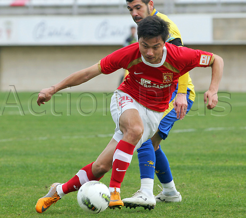 27.01.2012 Cadiz, SPAIN - Friendly football match  played between Cadiz C.F. versus Guangzhou (