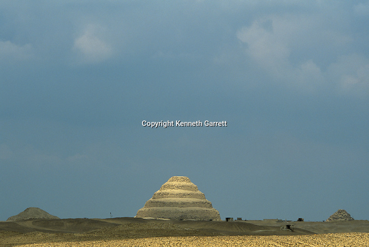 Saqqara; The Step Pyramid of Djoser, 3rd dynasty Pharaoh, Early Dynastic; Egypt