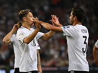 celebrate the goal, Torjubel zum 1:0 von Mesut Özil (Deutschland Germany) mit Jonas Hector (Deutschland Germany)- 04.09.2017: Deutschland vs. Norwegen, Mercedes Benz Arena Stuttgart